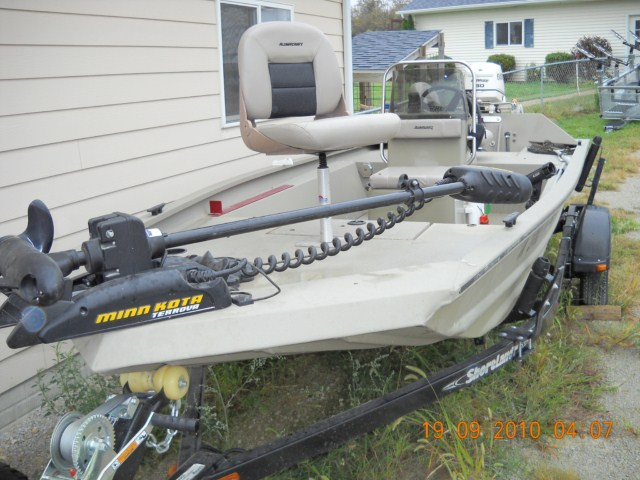 Used muskie boats for sale classified ads for Self deploying trolling motor